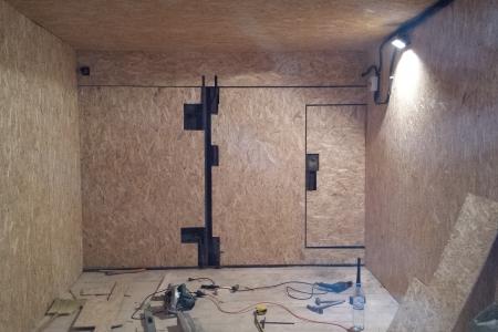 Отделка гаража OSB панелями